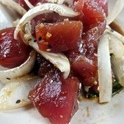 LuLu's Lahaina Surf Club and Grill on Maui serves up a delicious Hawaiian ahi tuna poke