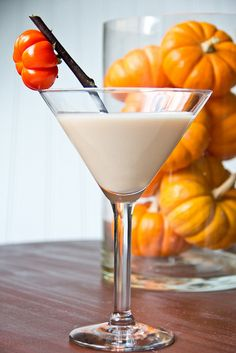 Pumpkin Cake Martini --if we are dressed up in our costumes, then we really aren't ourselves, so we can have as many as we want, correct? Can you imagine the flavor in this? YUM.