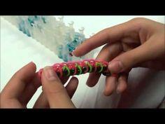 "Lesson 3: ""single rhombus"" rubber band bracelet"
