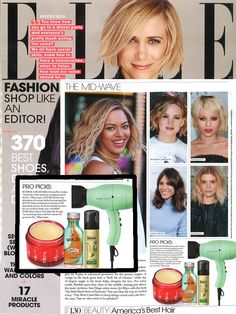 Harry Josh Pro Tools Dryer featured in the August 2014 issue of Elle!