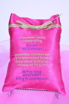 Cute slumber party invite!