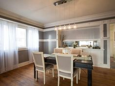 As seen on HGTV's Brother Vs Brother.  Episode 3: #TeamDrew Dining Room
