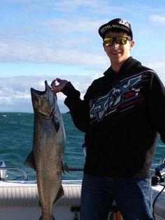 Salmon fishing off Drummond Island