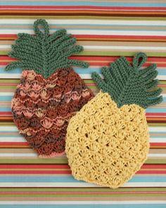 Free+Knitting+Pattern+-+Dishcloths+&+Washcloths+:+Pineapple+Dishcloth