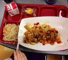 Students enjoyed an Asian-style stir fry during a Celebrity Chef Display Cooking event at Wells Ogunquit Community School District in Maine.