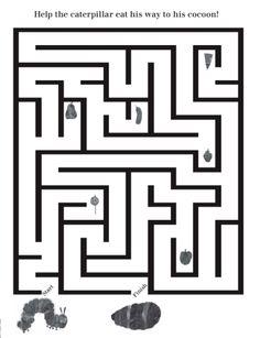 (6) ACTIVITY Very Hungry Caterpillar Maze Activity  #WorldEricCarle #HungryCaterpillar