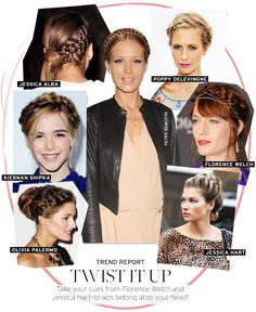 Trend Report: Braided Updos - Celebrity Style and Fashion from WhoWhatWear