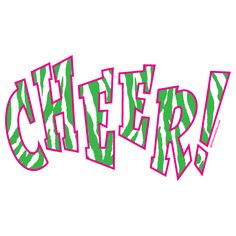 The T541 green zebra stripes in a pink outline shirt is a fun addition to your current Cheer clothes! Only $5.00!!
