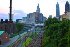Cleveland Skyline - w/ a Tilt Shift Effect #Cleveland #TiltShift