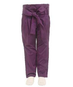 Anotahshop.com | Purple bow trousers for kids #fashion