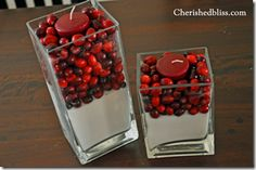 Ideas for IFC Thanksgiving Dinner this year: Cranberries, sugar, a candle. Maybe tied with burlap or ribbon