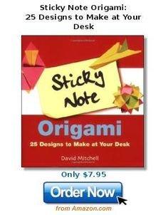 www.squidoo.com/unique-funny-post-it-notes - One more thing to do with Post-It notes - Sticky Note Origami: 25 Designs to Make at Your Desk.  Funny post it notes. $7.95 . #ppgfunny