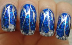 Little Miss Nailpolish: Blue Butterfly Wing Nails