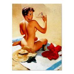 The Beach beaches, gilelvgren, at the beach, pin up art, pinup, gil elvgren, beach babi, vintage pins, pin up girls