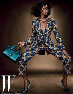 Naomi Campbell in W Magazine July 2012