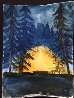 Wet-on-dry watercolor painting by Wilson Tan. Grade 5 Waldorf Homeschooling. www.syrendell.com