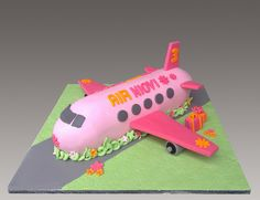 Pink Airplane Cake by Gellyscakes, via Flickr