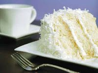 Mama's Coconut Cream Cake - pinned this one for the interesting light filling. then it is frosted with Coconut Cream Cheese frosting with 1/4 t. almond in it. Filling: 3/4 cup sugar  1 cup sour cream  4 tablespoons milk  1/2 cup flaked, sweetened coconut