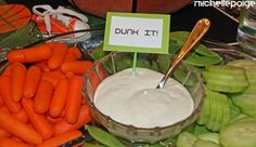 """Basketball party food: """"Dunk it!"""" dip & easy ideas"""