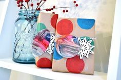 mod podg, creativ gift, activities for kids, gift wrapping, kid art, gift tags, craft blogs, kid crafts, child art
