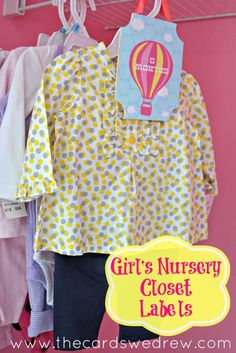 Girl's Nursery Closet Organizers {+9 other organizing & cleaning ideas} & Erin Condren Giveaway! - The Cards We Drew