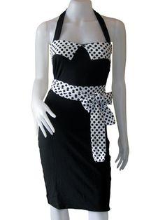black & white polka dot pin-up dress  by PunkABilly