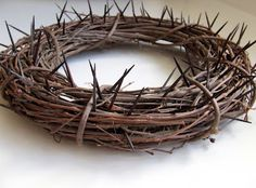 Might be a good idea for an Easter wreath for the front door.    Crown of Thorns Wreath, great Lent idea!