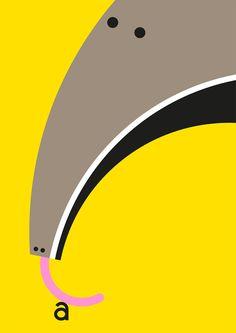 A is for... — Build animals, inspiration, illustrations, art, poster, alphabet, animal prints, blog, design