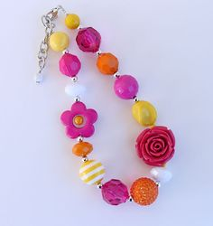 Pretty necklace for little girls by AikoArt!