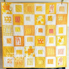 Yellow sunshine quilt