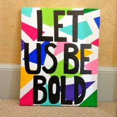 Bold Geometric Canvas Painting on Etsy