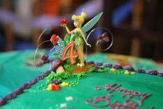 cake decor, tinkerbel cake