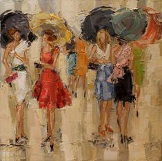 artists, morri trotter, ladies fashion, umbrella, kathryn morri