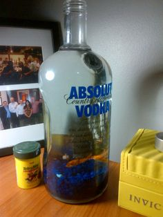 Fish in Vodka Bottle... oh, right... I have kids... might be inappropriate.