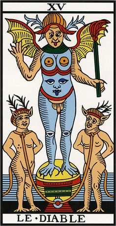 Marseille Tarot XV-The Devil