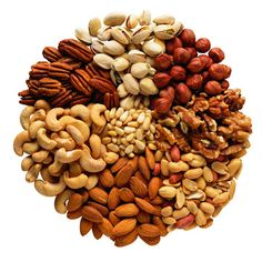 Eat more nuts (a healthy source of protein and other nutrients) for healthier hair.