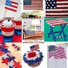 American flag crafts and patriotic craft ideas