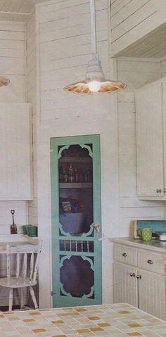 decor, pantri door, old window screen ideas, old screen doors, diy secret garden, dream hous, screen pantry door, country kitchens, esther stuff