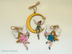 Fairy Collection  Set of 3 hand decorated by EntwineHandmade