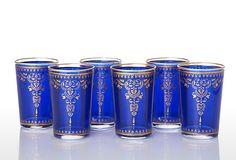 Henna Moroccan Tea Glass Set, Blue  MARKET STREET    $49.00