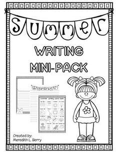 Summer Writing Mini-Pack FREEBIE