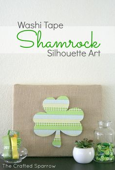 Washi Tape Shamrock Art