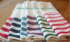 Ombre Flour Sack Towels | 28 Gifts To Make When You're Broke