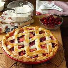 Apple Pie Recipes from Taste of Home, including Apple Cranberry Pie