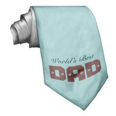 World's Best Dad Tie