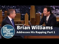 ▶ Brian Williams Addresses His Rapping -- Part 1 - YouTube - OMG he's is SO dry!  : )