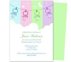 shower invitations, photo galleri, babi chocol, twin girl, twin babies, invit templat, babi shower, shower templat, baby showers