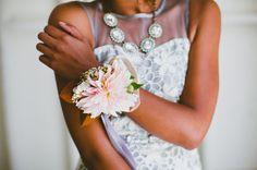 dahlia flower wristlet #gwsxmodcloth