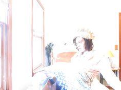 sun lit picture , vintage clothes, fashion photography