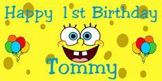 SpongeBob Birthday Banner by BannerGrams.com